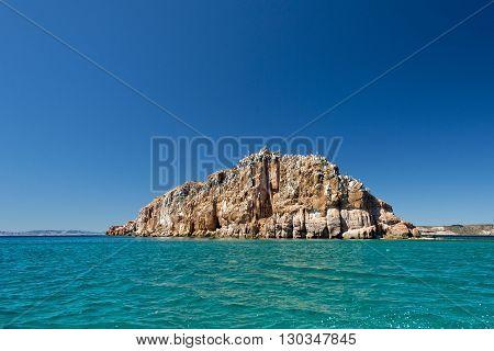 Baja California Coast Rocks And Desert