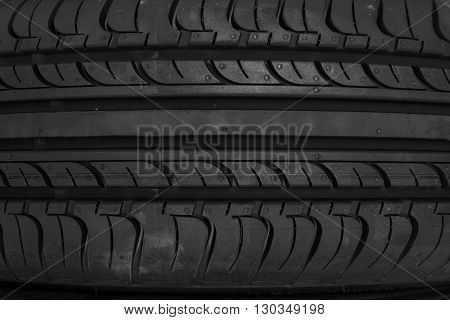 Close up of tyre texture background. Pattern for design