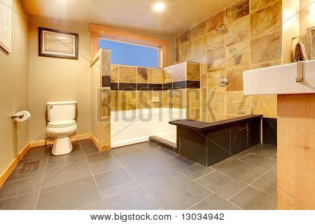 Modern Luxury Yelllow Bathroom