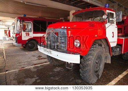 Turntable Ladder Fire Truck Al-30. Zil 131