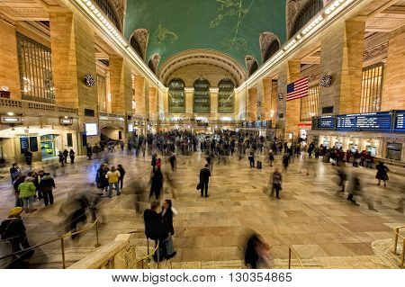 New York - Usa - 11 December 2011  Grand Central Station Full Of People