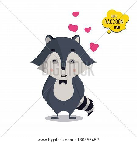 Universal Cute Raccoons Set With Family Raccoon