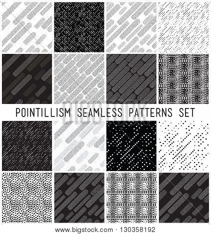 Vector Lineal Geometric Seamless Patterns Set.
