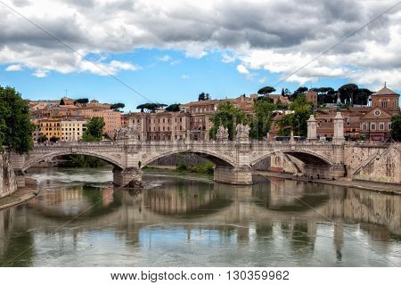 Rome Sant Angelo Bridge View