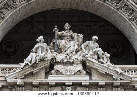 Justice Inscription On Rome Corte Di Cassazione Palace