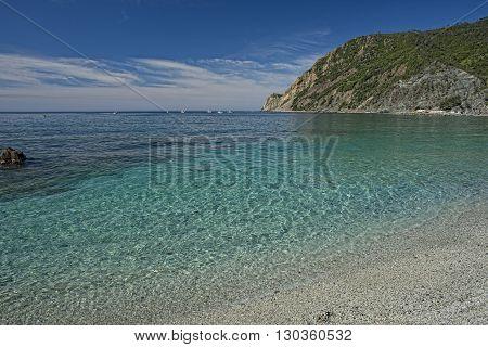 Monterosso Cinque Terre Sandy Beach Panorama