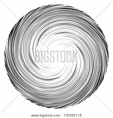 Vortex speed lines background. Swirl radial storm in manga or pop art style. Collapsar on white.