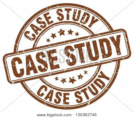case study brown grunge round vintage rubber stamp
