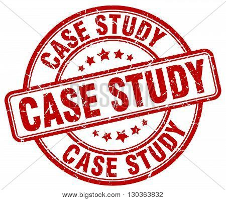case study red grunge round vintage rubber stamp