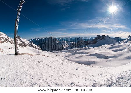 Winterlandscape In The Zugspitze, Germany