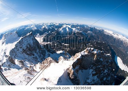 Ski Lift In The Zugspitze, Germany