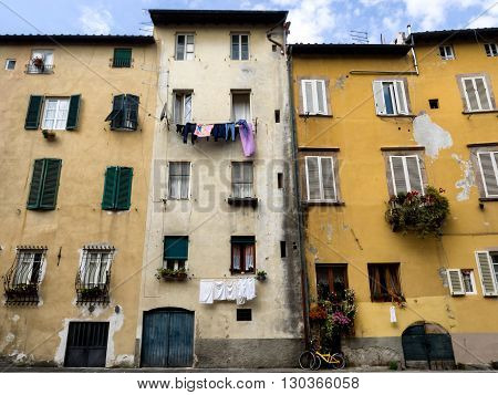 Via del fosso with canals in Lucca Italy