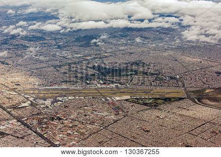 Mexico City Aerial View Cityscape