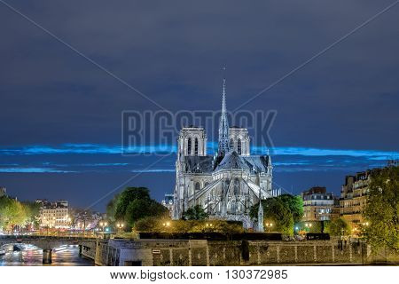 Notre Dame Paris Night View
