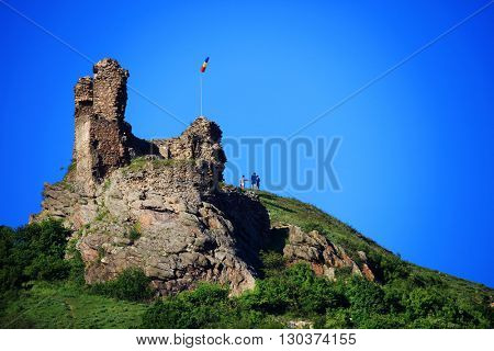 Ruins of the nedieval fortress of Siria, Romania