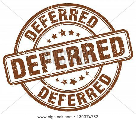 deferred brown grunge round vintage rubber stamp