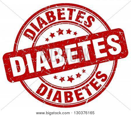 diabetes red grunge round vintage rubber stamp