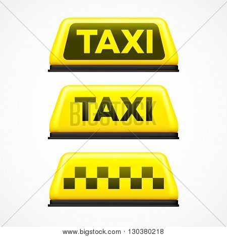 Taxi sign on white background. Vector illustration EPS10