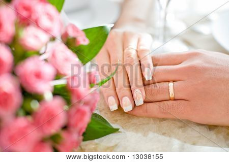 Hands Of Just Married