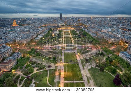 Paris Night View From Tour Eiffel