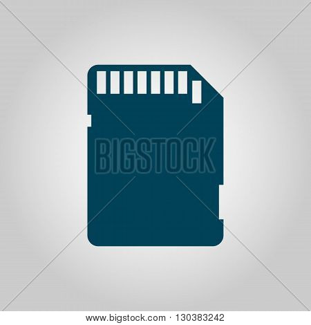 Sd Card Icon In Vector Format. Premium Quality Sd Card Symbol. Web Graphic Sd Card Sign On Grey Back