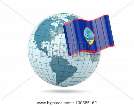 Globe With Flag Of Guam