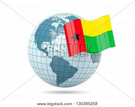 Globe With Flag Of Guinea Bissau