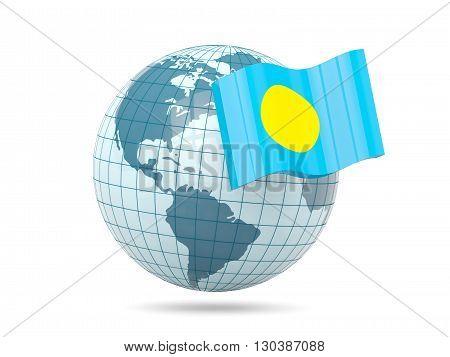 Globe With Flag Of Palau