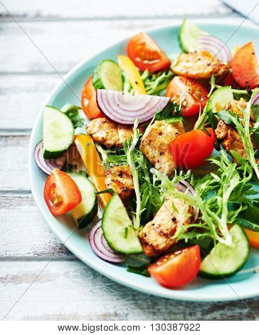 Chicken Salad with Endive and Cherry Tomatoes