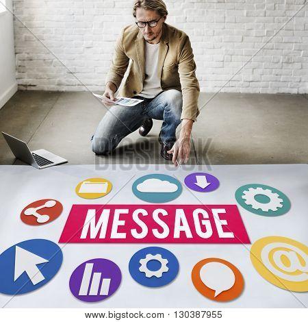 Business Communication Message Concept