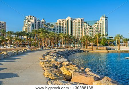 The promenades and piers of Eilat are the best places in resort to enjoy the lazy walks and views Israel.