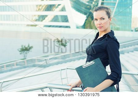 Business Woman In The Office Center