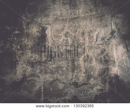 Old grunge concrete black wall for background