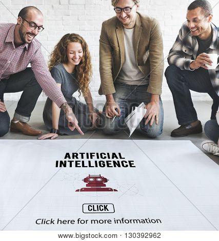 Artificial Intelligence Automation Machine Robot Concept