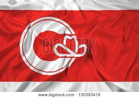 Waving Flag of Calgary, with beautiful satin background