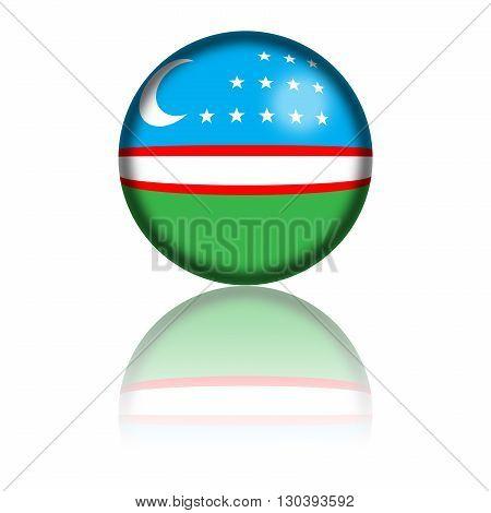 Uzbekistan Flag Sphere