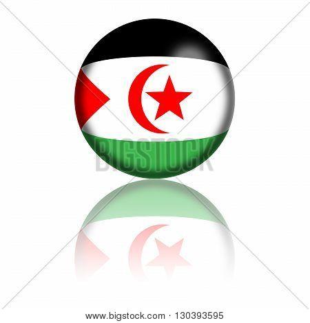 Western Sahara Flag Sphere
