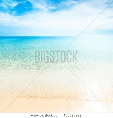 tropical paradise beach / Sunny day sea paradise / Sea paradise / Paradise postcard