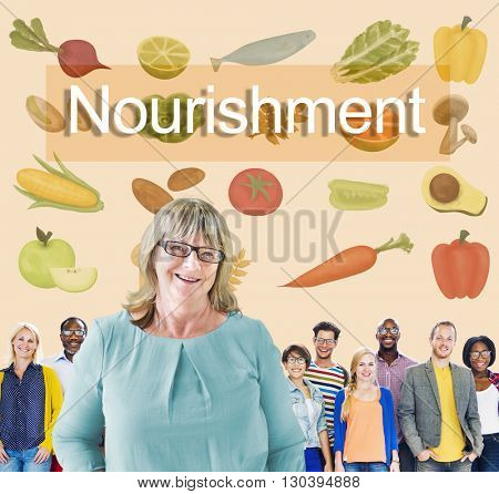 Nourishment Fresh Healthy Natural Relaxation Concept