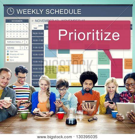 Weekly Schedule Reminder Activities Planner Concept