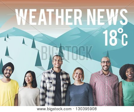 Weather Update Temperature Forecast News Meteorology Concept