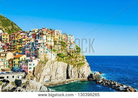 Manarola Town In Cinque Terre National Park, Italy