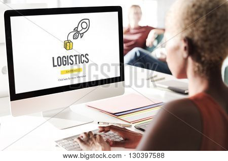 Logistics Distribution Cargo Freight Manufacturing Concept