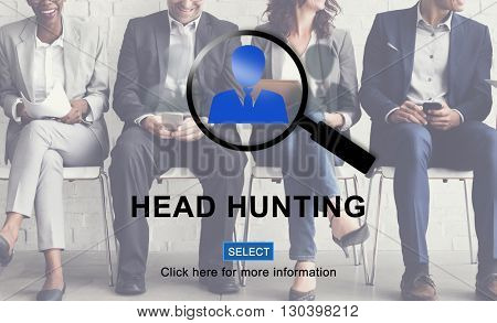 Head Hunting Company Hiring Human Resources Concept