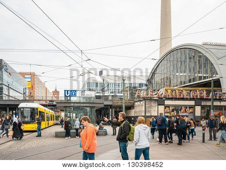 BERLIN, GERMANY-May 18: Typical Street view May 18, 2016 in Berlin, Germany. Berlin is the capital of Germany. With a population of approximately 3.5 million people.BERLIN, GERMANY