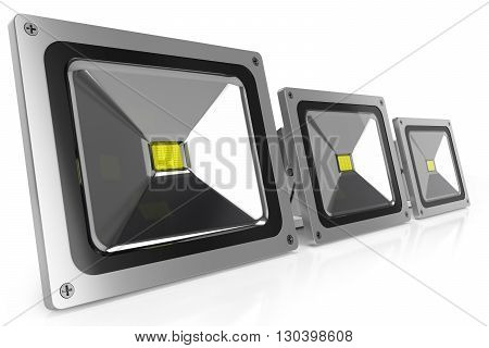Led Floodlights 3D