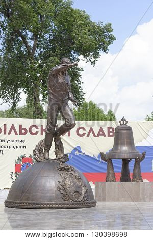 Rostov-on-Don Russia- May 142016: Memorial Heroes of Chernobyl Gloryis open to the 30 th anniversary of the accident. Sculptor Sergei Isakov.