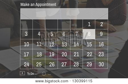 Calendar Appointment Business Date Week Month Concept