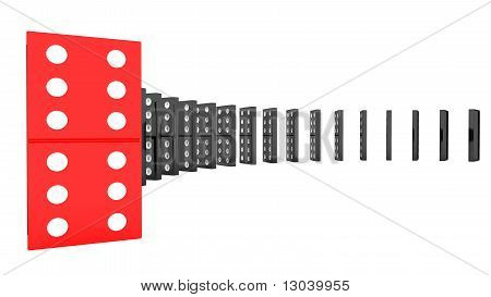 lined up dominoes