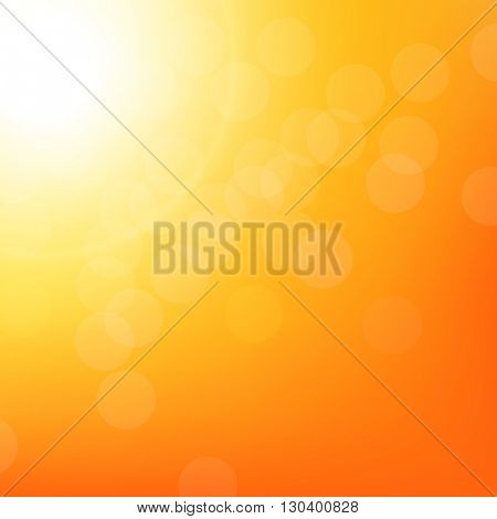 Sunbeam Background With Bokeh, With Gradient Mesh, Vector Illustration
